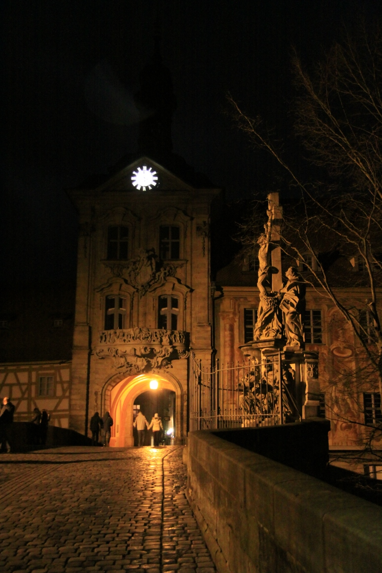 Bamberg's Altes Rathaus by night
